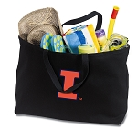University of Illinois Jumbo Tote Bag Black