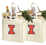 University of Illinois Shopping Bags Illini Grocery Bags 2 PC SET