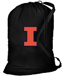 University of Illinois Laundry Bag Black
