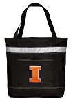 University of Illinois Insulated Tote Bag Black