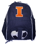 University of Illinois Soccer Ball Backpack or Illini Volleyball Practice Gear Bag Navy