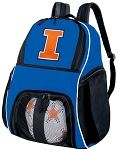 University of Illinois Soccer Backpack or Illini Volleyball Practice Bag Boys or Girls Blue