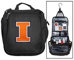 University of Illinois Toiletry Bag or Illini Shaving Kit Travel Organizer for Men