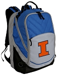 University of Illinois Deluxe Laptop Backpack Blue