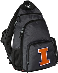 University of Illinois Backpack Cross Body Style Gray