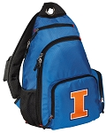 University of Illinois Backpack Cross Body Style Blue