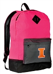 Illini Backpack HI VISIBILITY University of Illinois CLASSIC STYLE For Her Girls Women