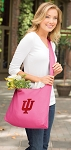 IU Indiana University Tote Bag Sling Style Pink