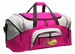 Ladies University of Kansas Duffel Bag or Gym Bag for Women