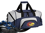 SMALL University of Kansas Gym Bag KU Jayhawks Duffle Navy