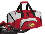 SMALL University of Kansas Gym Bag KU Jayhawks Duffle Red