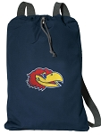 University of Kansas Cotton Drawstring Bag Backpacks Cool Navy