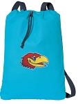 University of Kansas Cotton Drawstring Bag Backpacks Blue