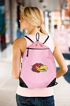 Kansas Drawstring Bag Mesh and Microfiber Pink