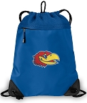 Kansas Drawstring Bag MESH & MICROFIBER Royal