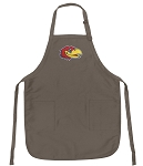 Official KU Jayhawks Logo Apron Tan