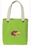 University of Kansas Tote Bag RICH COTTON CANVAS Green