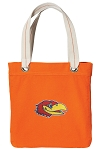 University of Kansas Tote Bag RICH COTTON CANVAS Orange