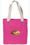 University of Kansas Tote Bag RICH COTTON CANVAS Pink