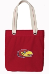 University of Kansas Tote Bag RICH COTTON CANVAS Red