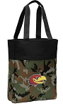 University of Kansas Tote Bag Everyday Carryall Camo