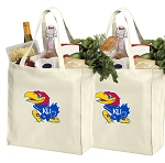 University of Kansas Shopping Bags KU Jayhawks Grocery Bags 2 PC SET