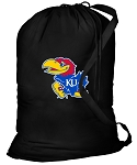 University of Kansas Laundry Bag Black