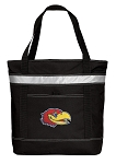 Kansas Jayhawks Insulated Tote Bag Black