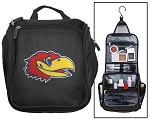 University of Kansas Toiletry Bag or Kansas Jayhawks Shaving Kit Travel Organizer for Men