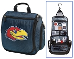 KU Jayhawks Hanging Travel Toiletry Bag or University of Kansas Shaving Kit Organizer for Him Navy