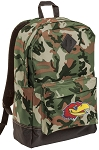 University of Kansas Camo Backpack