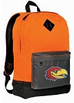 KU Jayhawks Backpack HI VISIBILITY Orange University of Kansas CLASSIC STYLE