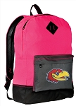 KU Jayhawks Backpack HI VISIBILITY University of Kansas CLASSIC STYLE For Her Girls Women