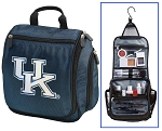 UK Wildcats Hanging Travel Toiletry Bag or University of Kentucky Shaving Kit Organizer for Him Navy
