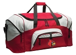 Louisville Cardinals Duffle Bag or University of Louisville Gym Bags Red