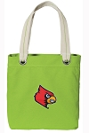 Louisville Cardinals Tote Bag RICH COTTON CANVAS Green