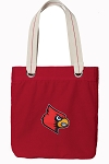 UofL Tote Bag RICH COTTON CANVAS Red