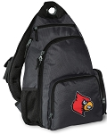 Louisville Cardinals Backpack Cross Body Style Gray