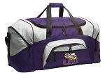 LARGE LSU Tigers Duffle Bags & Gym Bags