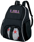 LSU Soccer Backpack or LSU Tigers Volleyball Bag For Boys or Girls
