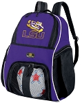 LSU Soccer Backpack or LSU Volleyball Practice Bag Purple