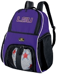 LSU Soccer Backpack or LSU Tigers Volleyball Practice Bag Purple