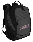 LSU Tigers Deluxe Laptop Backpack Black