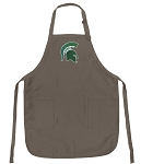 Official Michigan State Logo Apron Tan