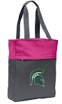 Michigan State Tote Bag Everyday Carryall Pink