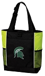 Michigan State Tote Bag COOL LIME