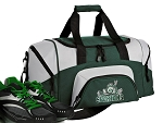 SMALL Michigan State Gym Bag Michigan State Peace Frogs Duffle Green