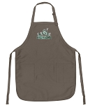 Official Michigan State Peace Frogs Logo Apron Tan