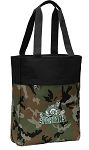 Michigan State Peace Frog Tote Bag Everyday Carryall Camo