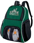 Michigan State Soccer Backpack or Michigan State Peace Frogs Volleyball Bag Green
